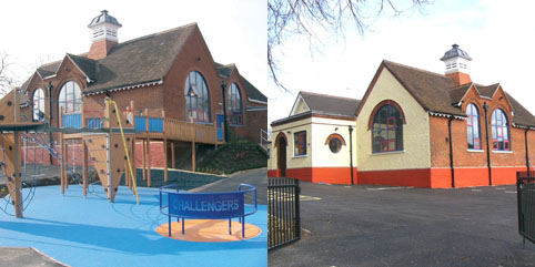 Front and rear views of the Disability Challengers facility