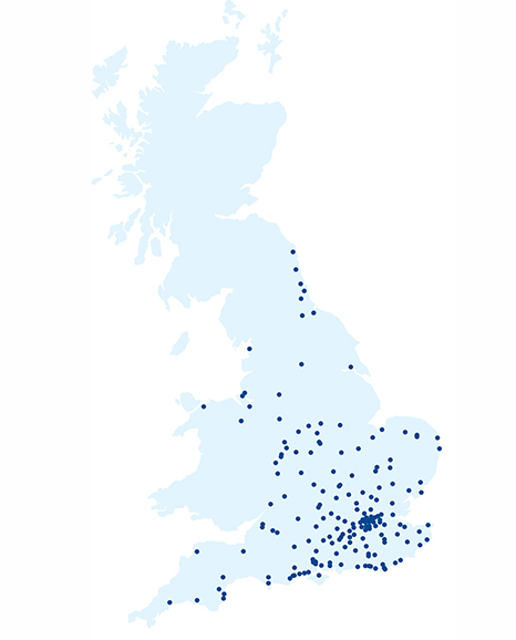 Brewers store locations in the UK