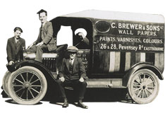 Brewers delivery van, 1920