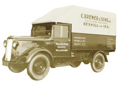 Brewers delivery van, 1940