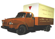 Brewers delivery van, 1950