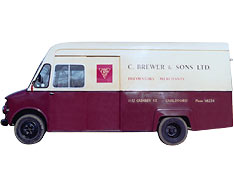 Brewers delivery van, 1970