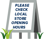 Please check opening times sign