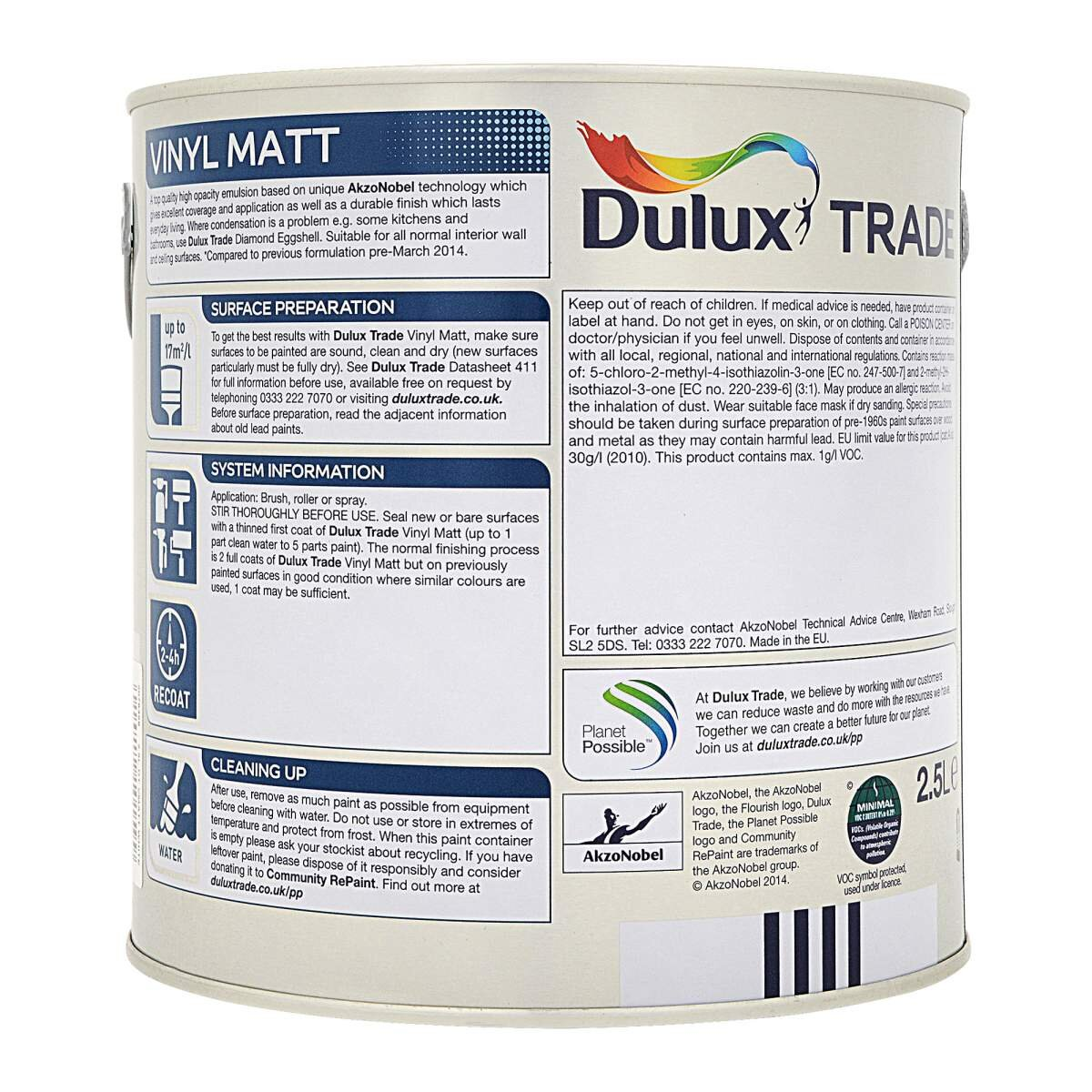 Dulux Trade Vinyl Matt Tinted Polished Pebble 2 5l