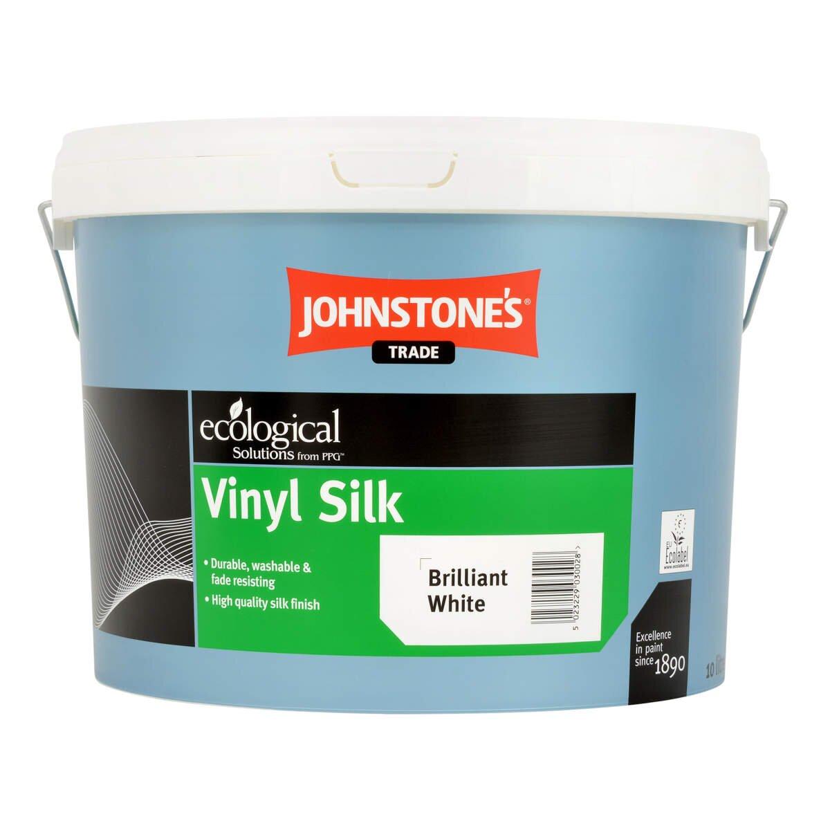 Johnstones Trade Vinyl Silk Brilliant White 10l