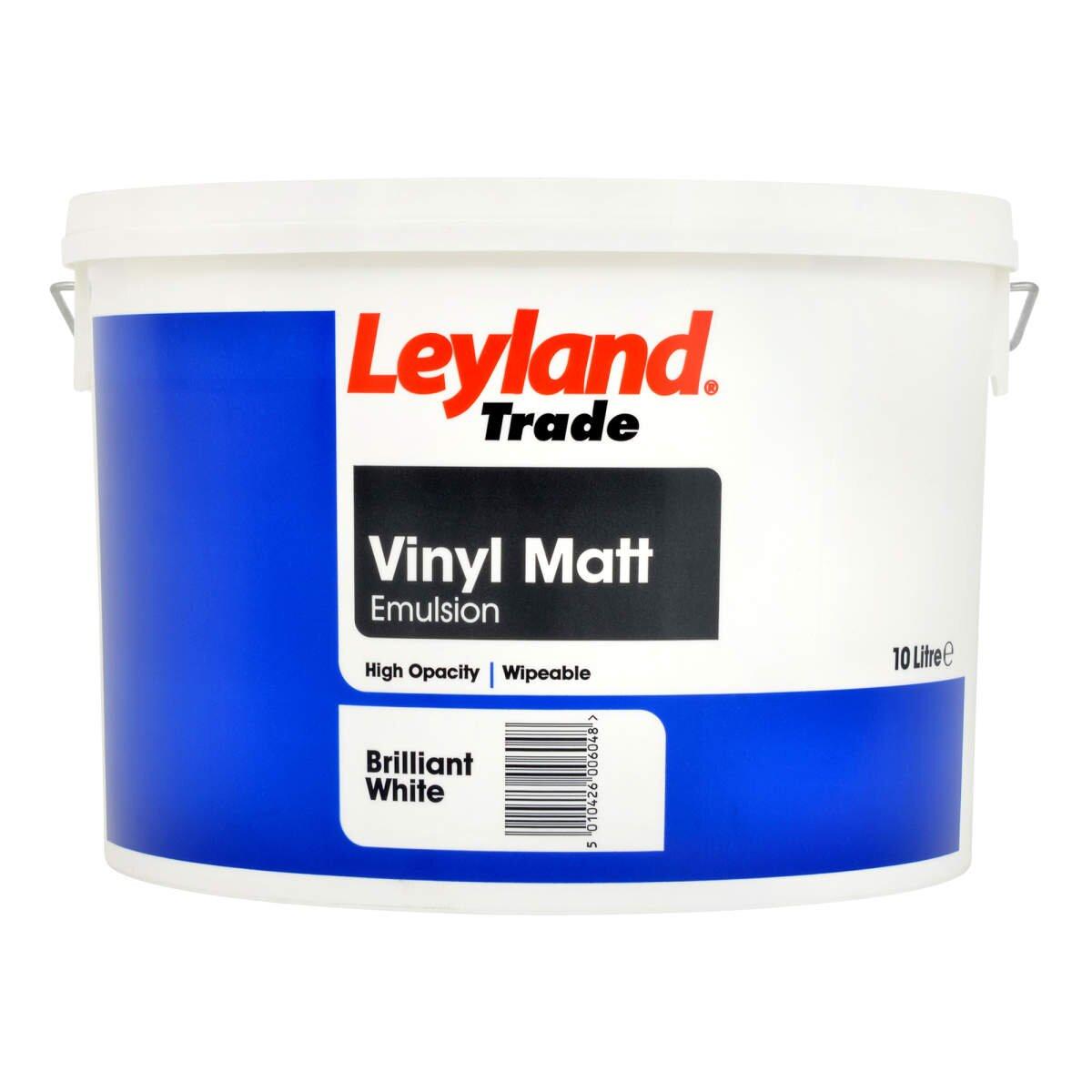 Leyland Trade Vinyl Matt Brilliant White 10l