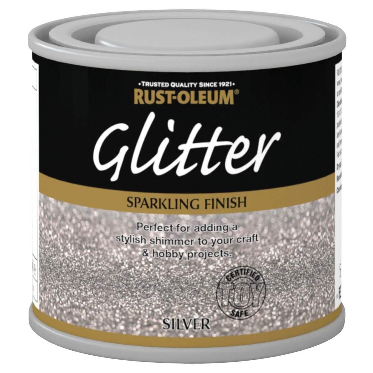 Rust Oleum Glitter Paint Silver 125ml