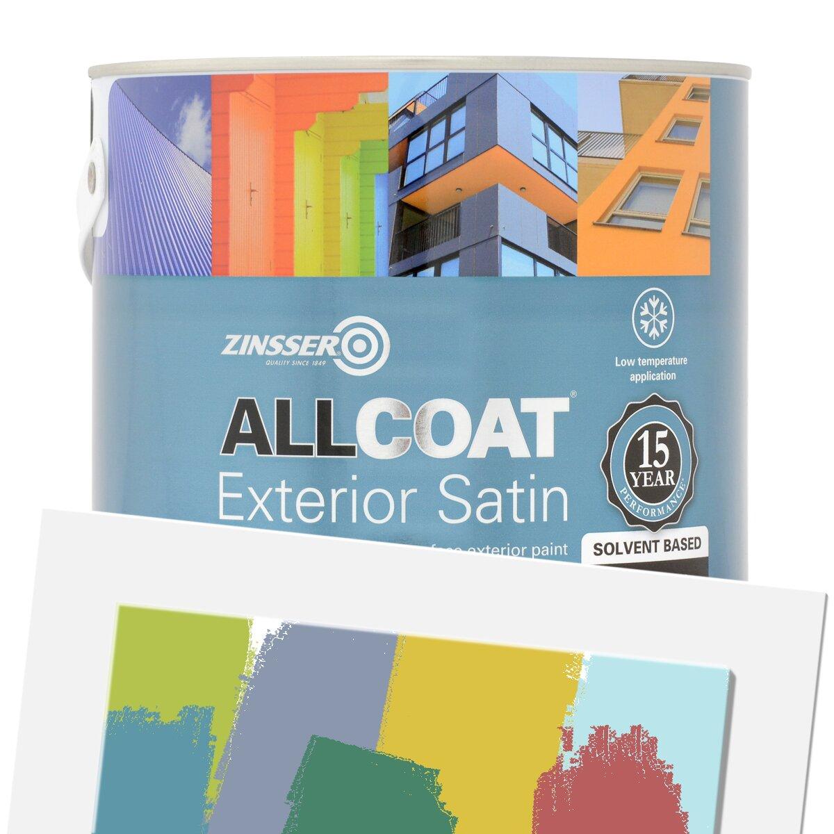 Zinsser Allcoat Exterior WB (Satin Finish) Tinted Colours in