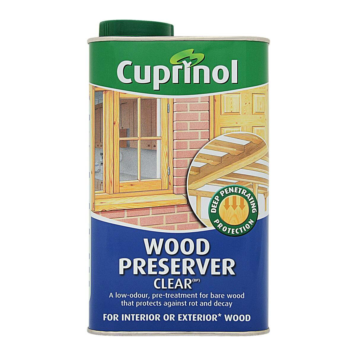 Cuprinol Exterior Wood Preservative Matt Clear Clear 1l