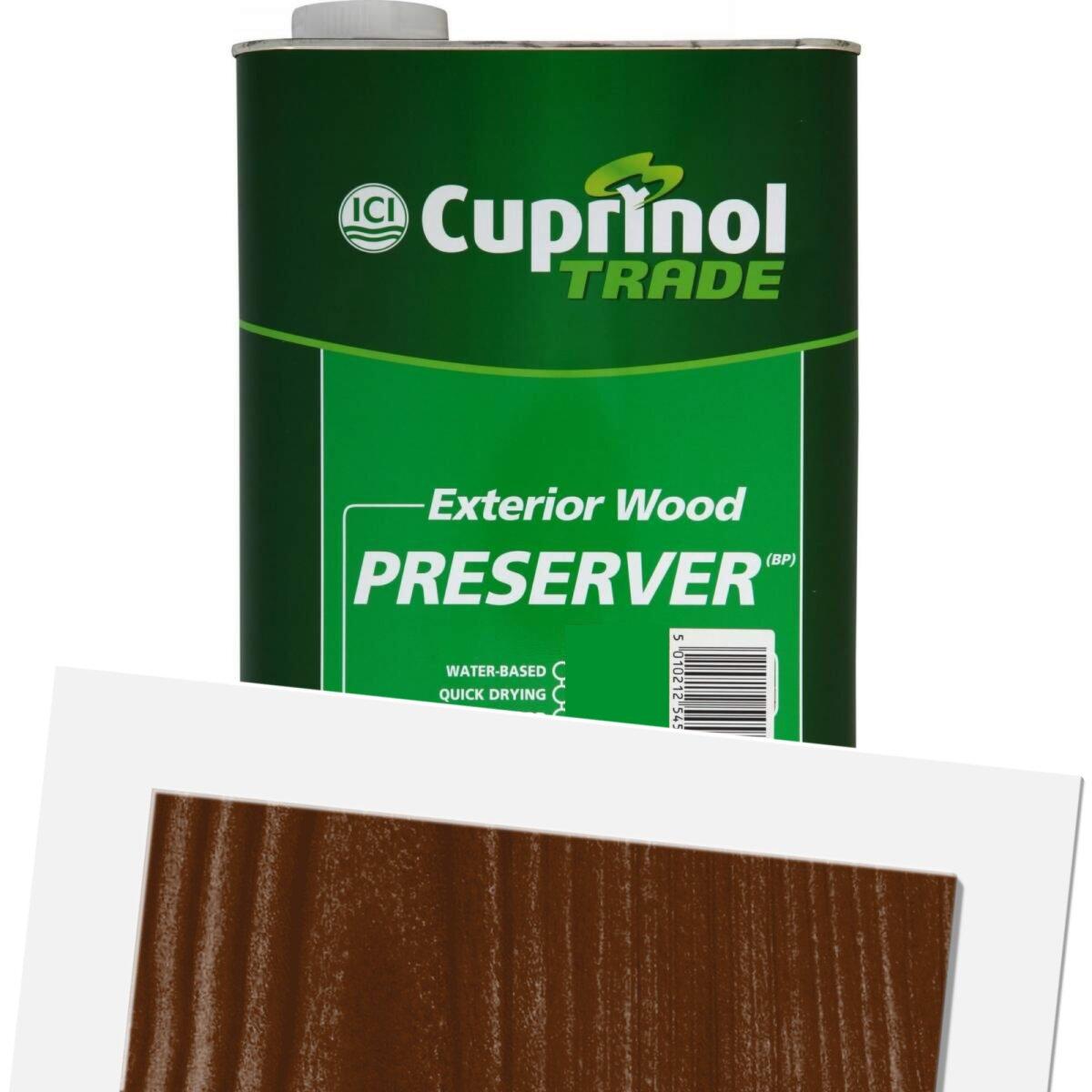 Cuprinol Exterior Wood Preservative Matt Golden Brown 5l