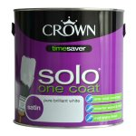 Solo One Coat Satin Brilliant White