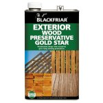 Exterior Wood Preservative Gold Star Dark Brown
