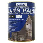 Barn Paint Semi Gloss Black (Ready Mixed)