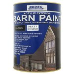Barn Paint Matt Black (Ready Mixed)
