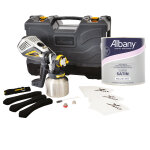 1 X XVLP FC3500 110V + 1 X FineSpray Attachment + 1 X 2.5L Albany Super Satin B/White