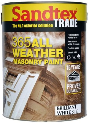 Santex Trade 365 All Weather Masonry Paint is shower resistant in 20 minutes.