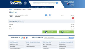 Check stock, view prices, order goods for collection or delivery with a Brewers account