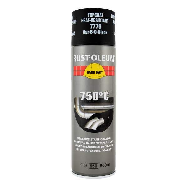 2100 Hard Hat Topcoat Heat Resistant Black 7778