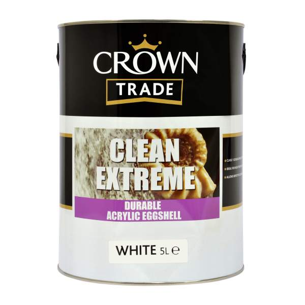 Clean Extreme Durable Acrylic Eggshell White