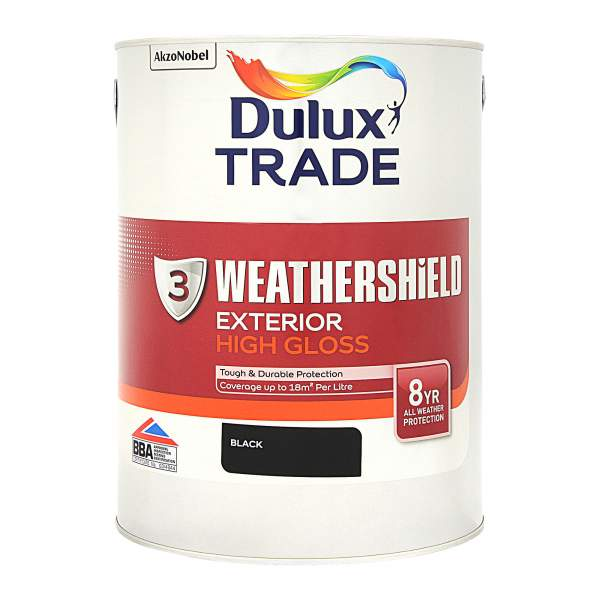 Weathershield Exterior High Gloss Black (Ready Mixed)