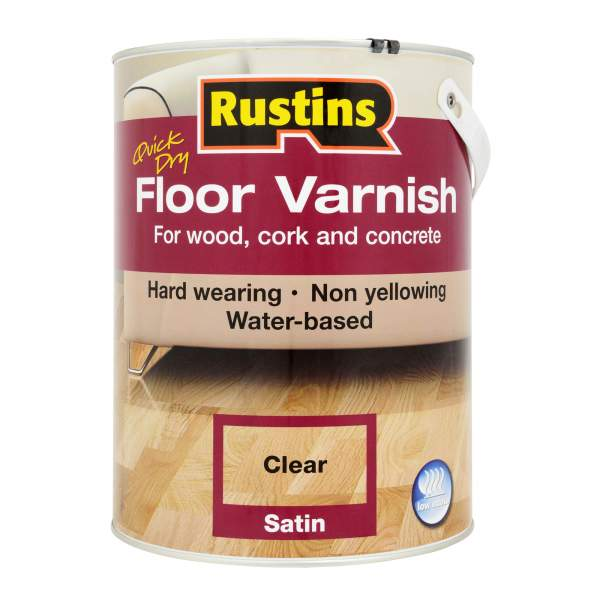 Quick Dry Floor Varnish Satin Clear