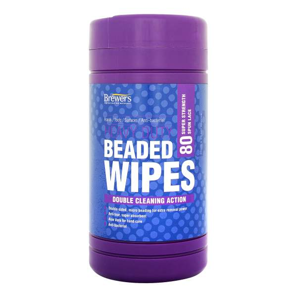 Heavy Duty Beaded Wipes Tub Of 80