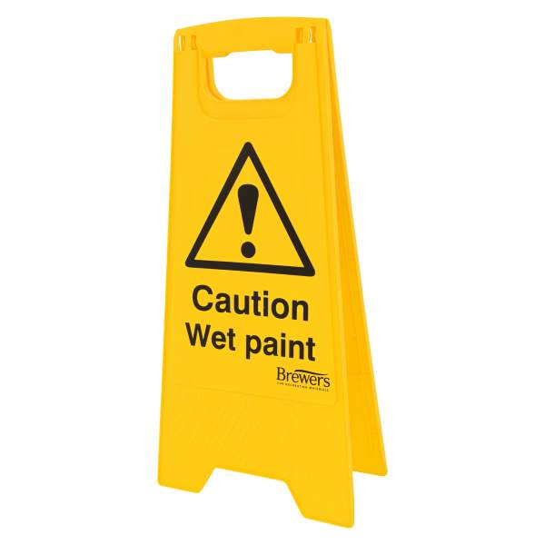 Warning Wet Paint A-Board Sign