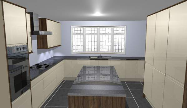 3D CAD image of your kitchen