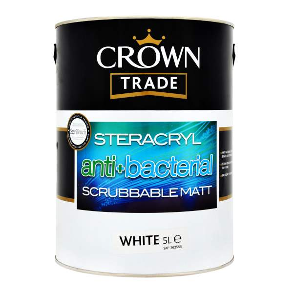 Steracryl Anti-Bacterial Scrubbable Matt White