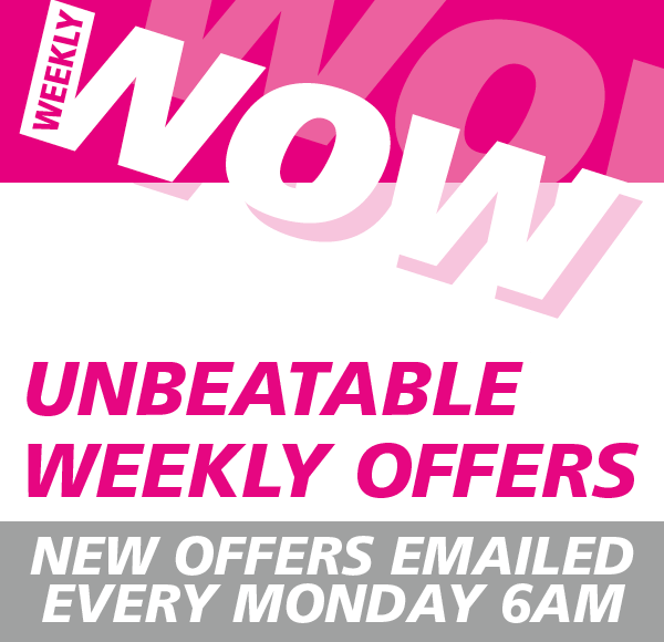 Sign up to receive our weekly offers