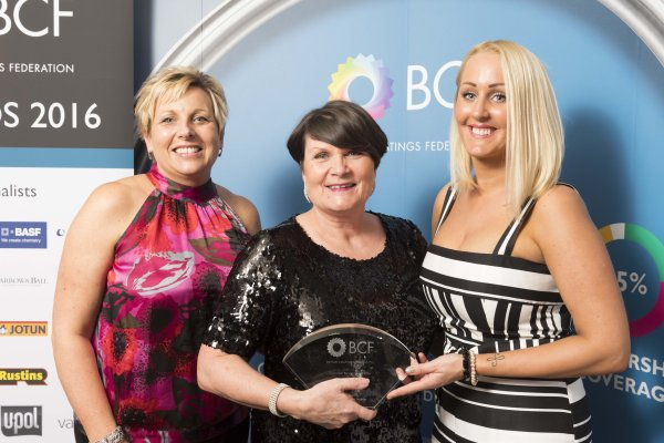 Julie Devlin CRM Manager, Geraldine Huxley Crown Paints' Customer Service Director and Kim Appleby CRM Team Leader