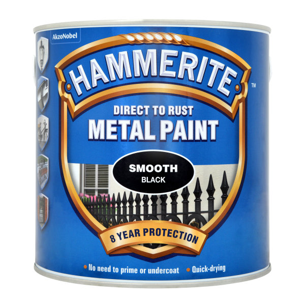 Direct to Rust Metal Paint Smooth Black (Ready Mixed)