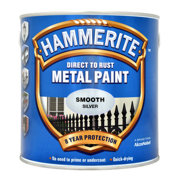 Direct to Rust Metal Paint Smooth Silver (Ready Mixed)
