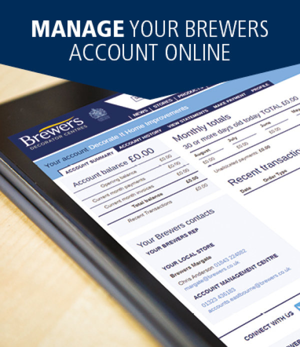 Manage your Brewers account online