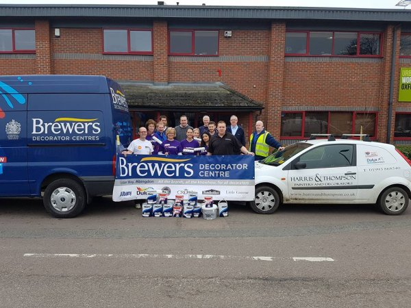Brewers donated paint to Oxfordshire Mind