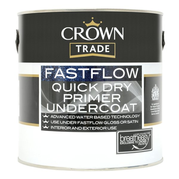 Fastflow Quick Dry Primer Undercoat Charcoal Grey (Ready Mixed)