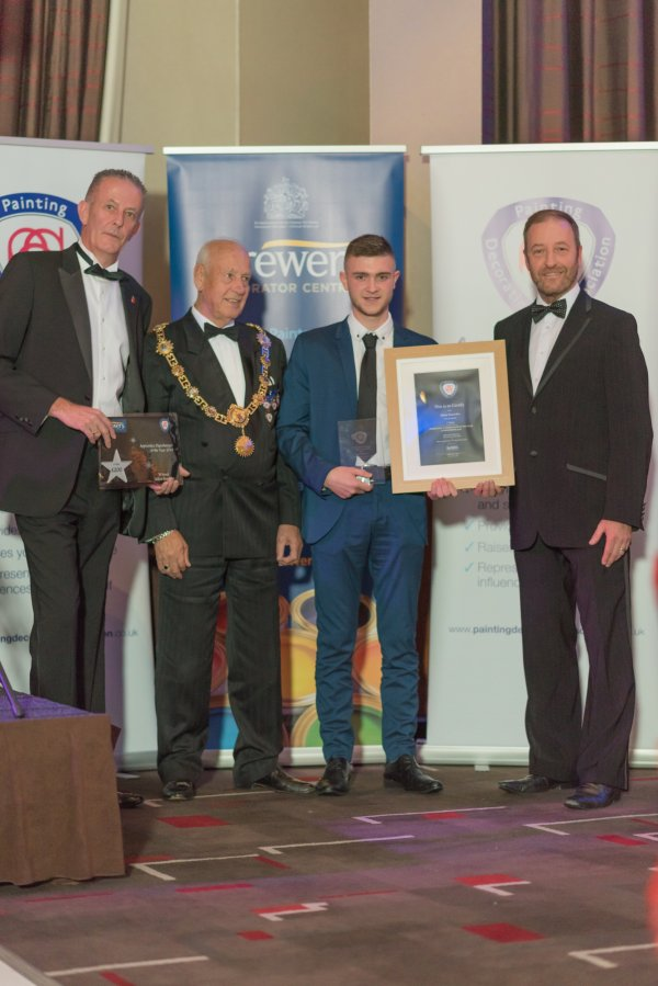 Adam Knowles was awarded Senior Apprentice Paperhanger of the Year