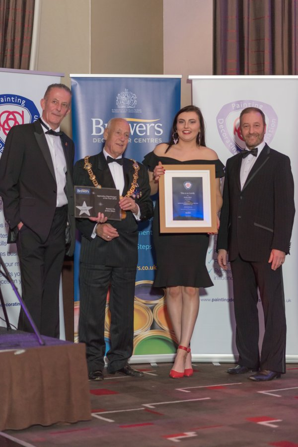 Jessica Mays was awarded Senior Apprentice Paperhanger of the Year runner up