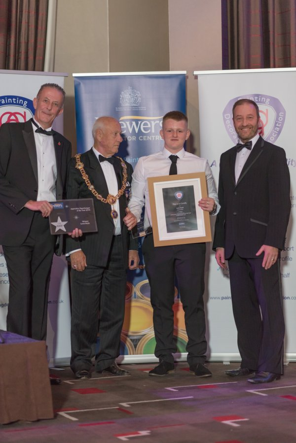 Lewis Boyle was awarded Junior Apprentice Paperhanger of the Year