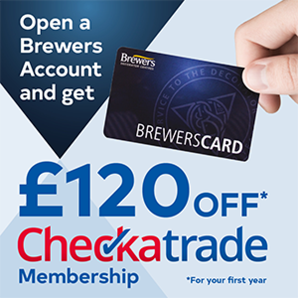 Open a Brewers Account and get £120 off Checkatrade