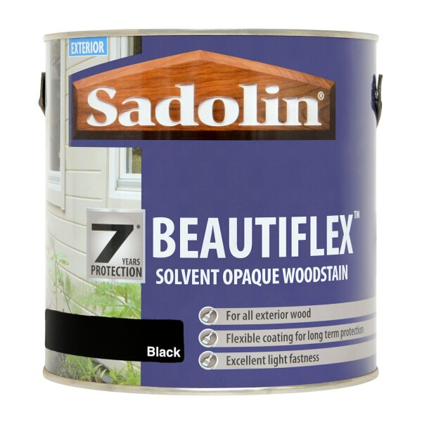 Beautiflex Opaque Woodstain Black (Ready Mixed)