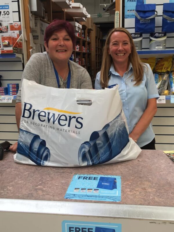 Trudy and Mandy at the Brewers Hastings store