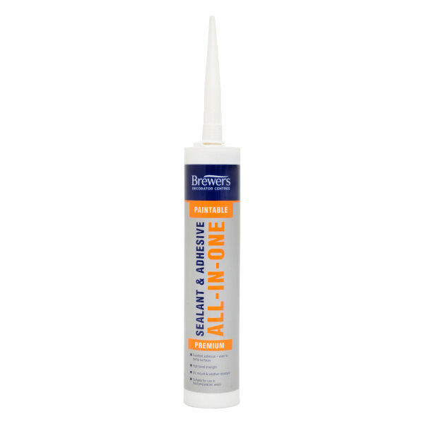 Paintable Sealant & Adhesive ALL-IN-ONE White