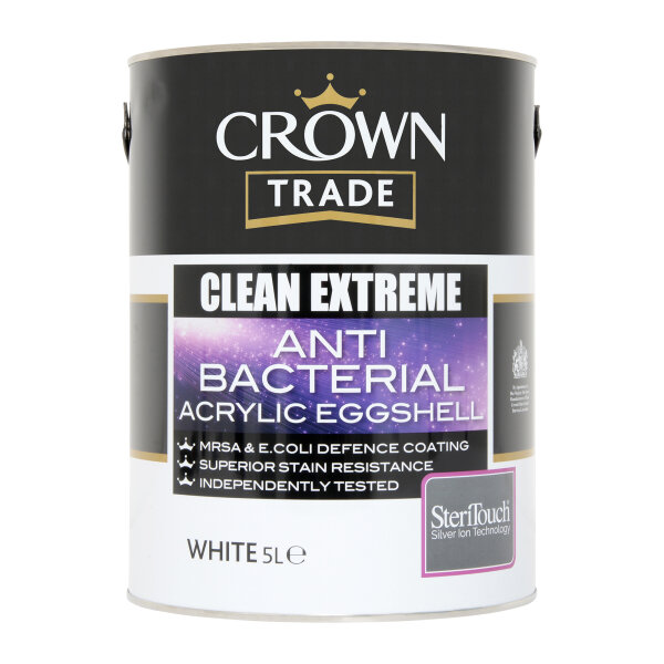 Clean Extreme Anti-Bacterial Durable Acrylic Eggshell White