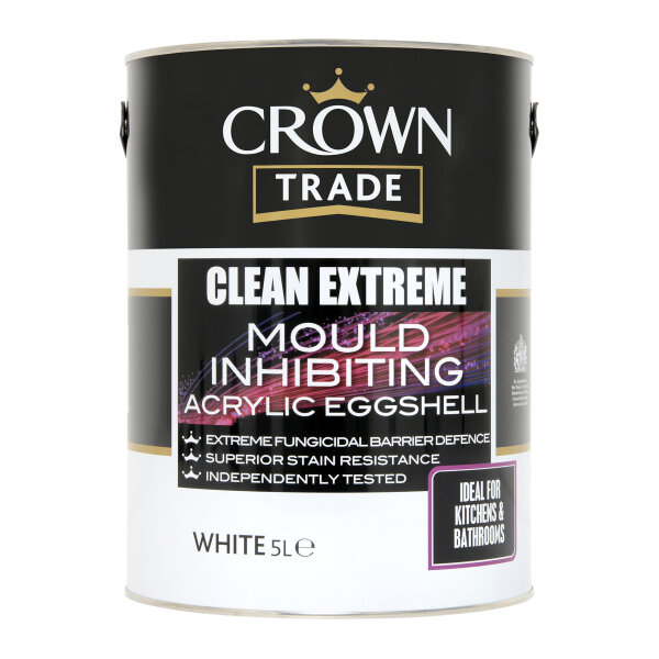 Clean Extreme Mould Inhibiting Acrylic Eggshell White